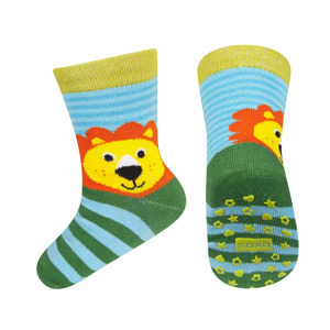 SOXO Children\'s socks with animals with ABS.