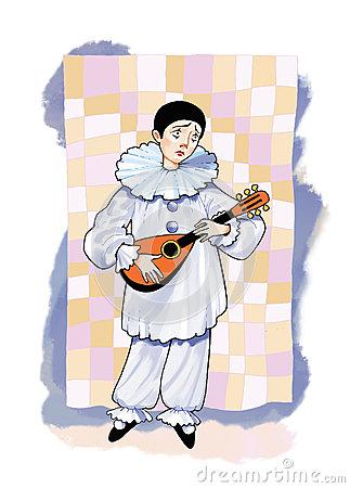 Pierrot Theater Stock Illustrations.