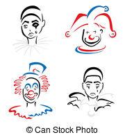 Pierrot Vector Clipart Royalty Free. 91 Pierrot clip art vector.