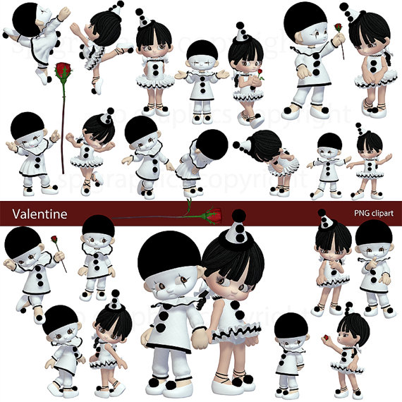Toons Valentine Pierrot Love Toons clipart for by SPGraphics.