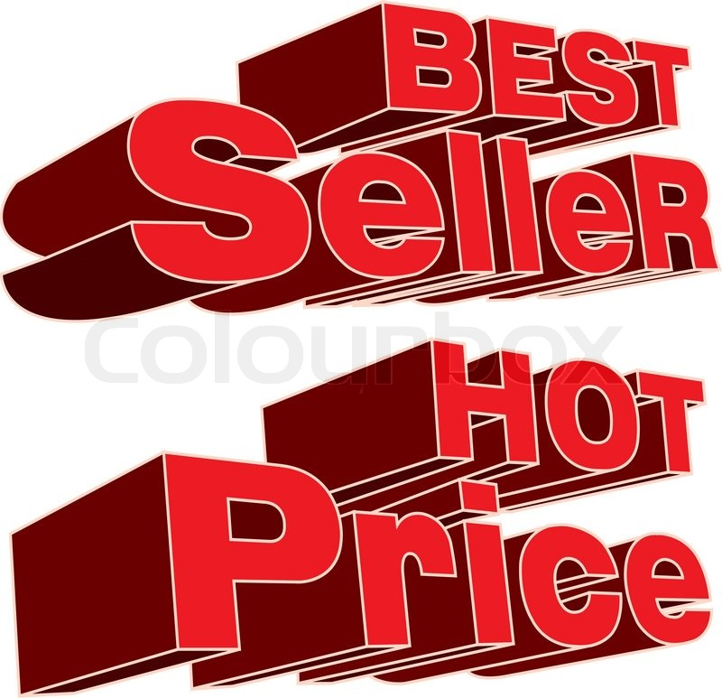 Best seller and hot price logo vector.