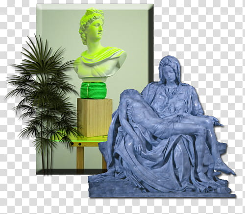 Full, Pieta statue transparent background PNG clipart.