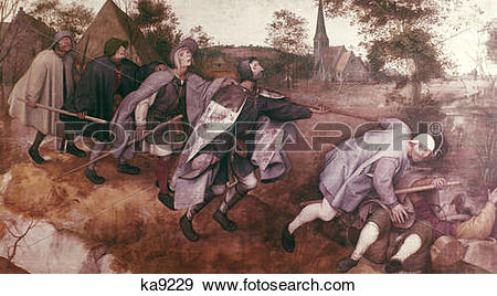 Stock Photograph of 1500S 1568 The Parable Of The Blind Pieter.