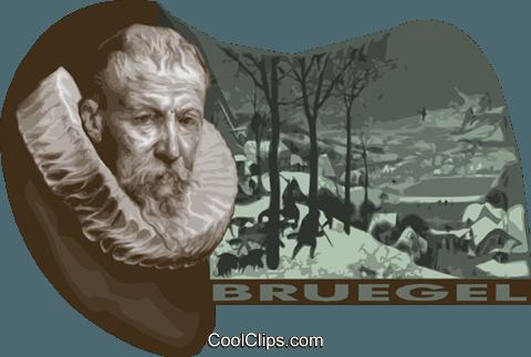Pieter Bruegel the Elder Belgian Artist Royalty Free Vector Clip.