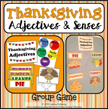 Adjectives Game: Thanksgiving.