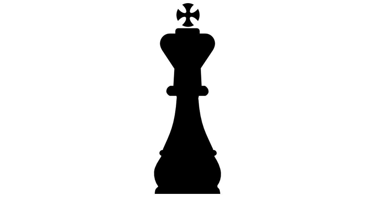 rey pieza de ajedrez forma.