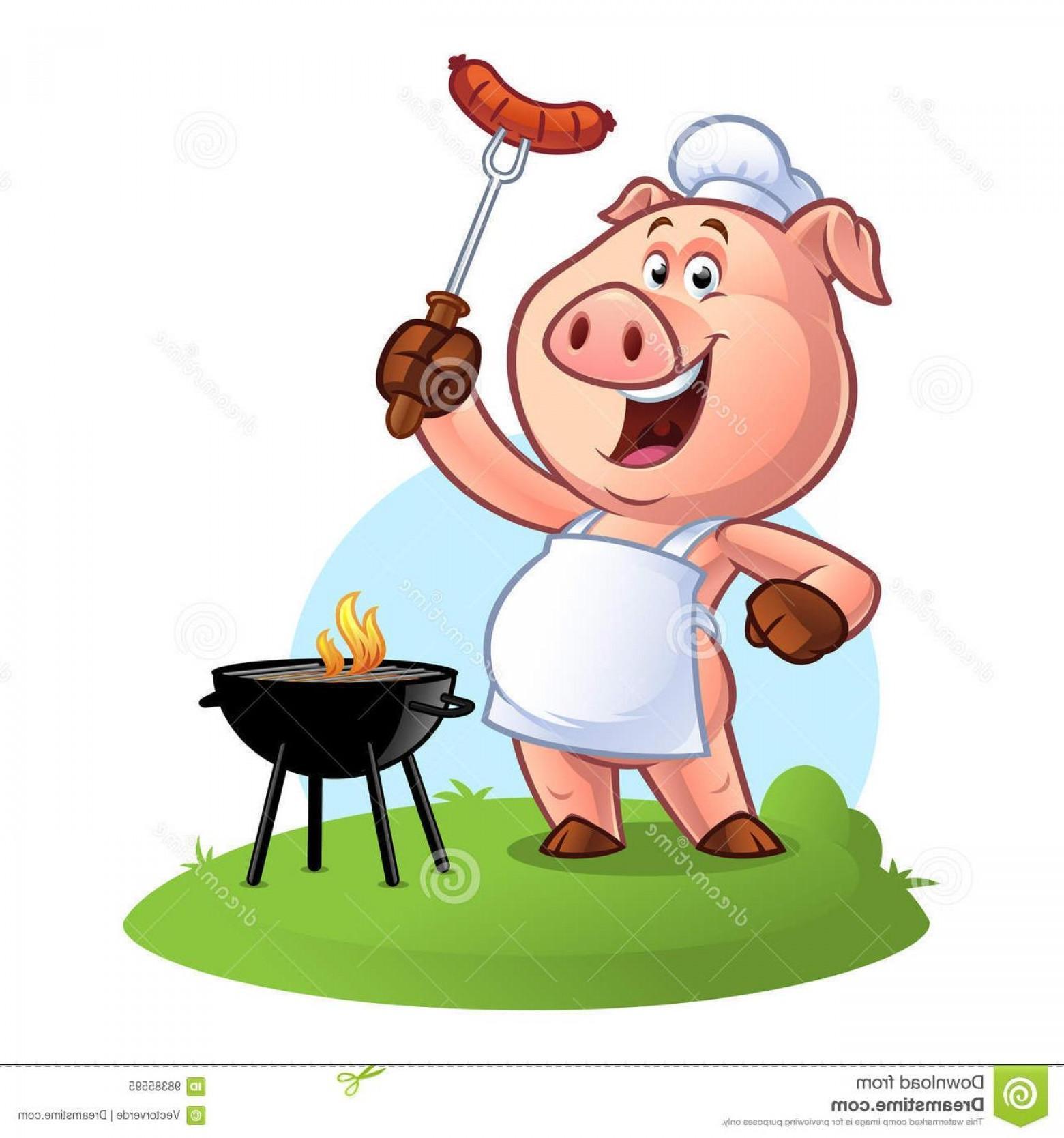 HD Hd Bbq Pig Chef Vector Design Images.