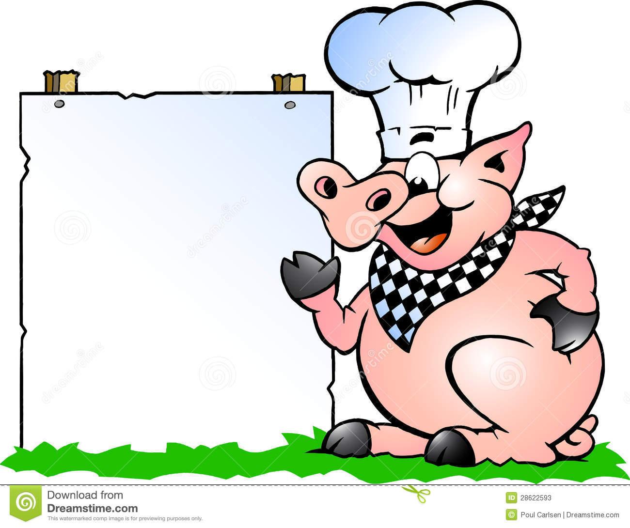Pig Bbq Clipart.