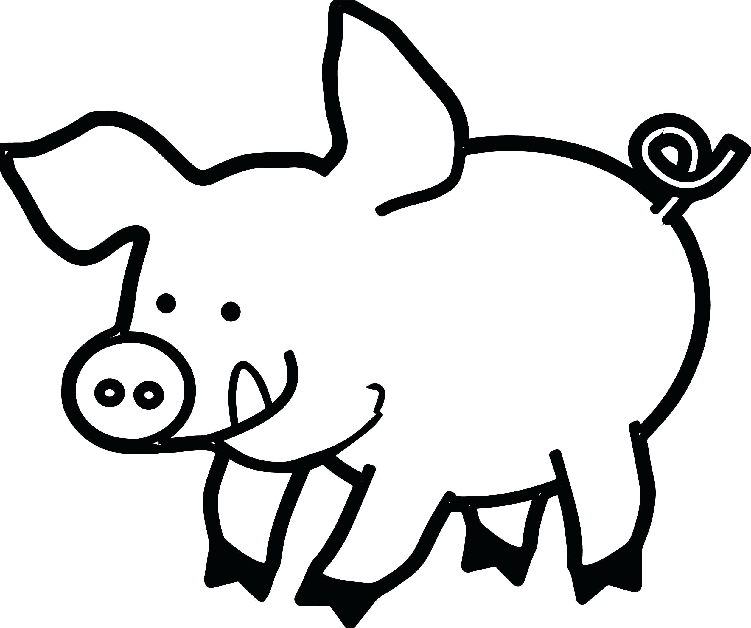 Pig Face Drawing 35 20 Clipart Black And White.