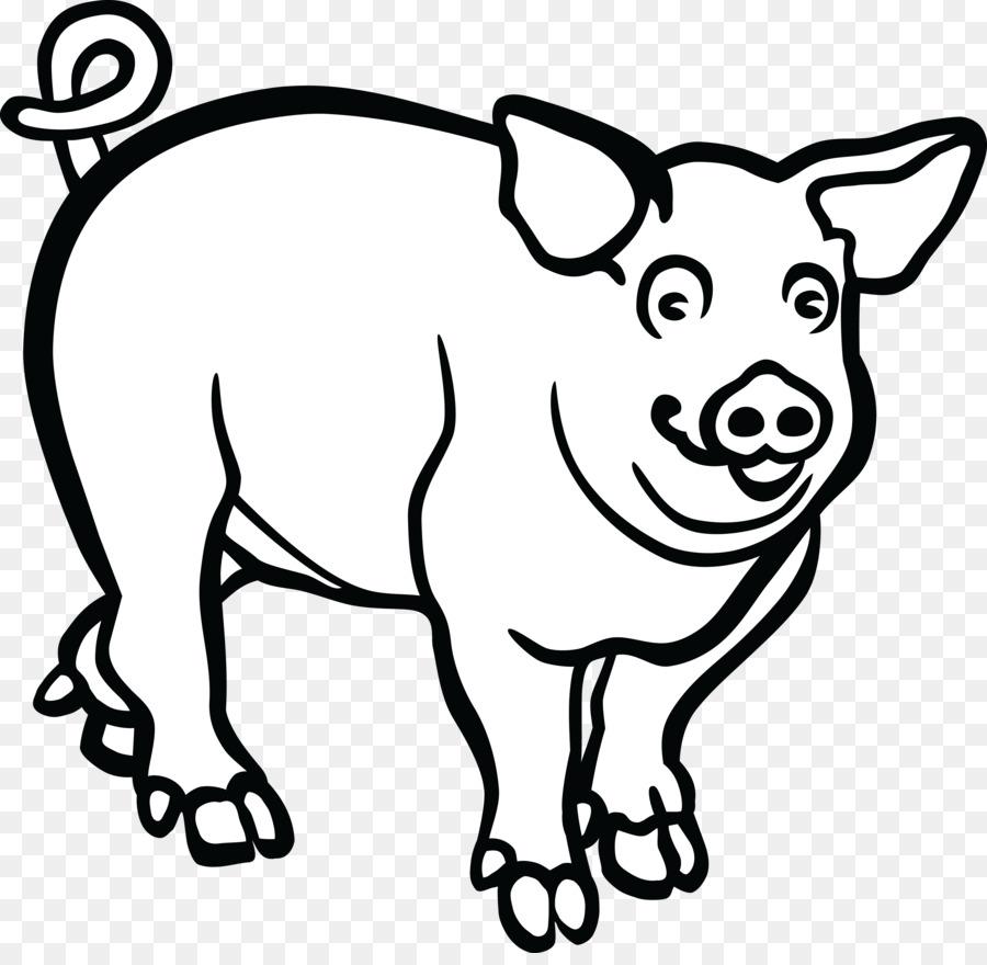 Pig Cartoon clipart.