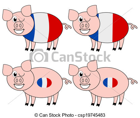 Vector of french pig breeding csp19745483.