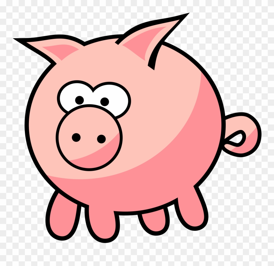 Cartoon Pig By Qubodup.