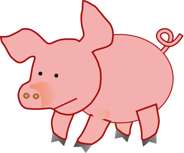 Picture Of A Cartoon Pig.