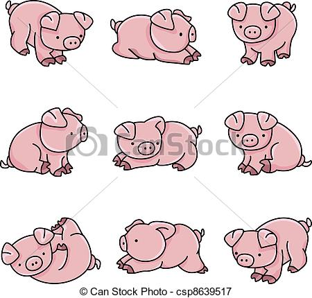 Clipart drawing of a pig.