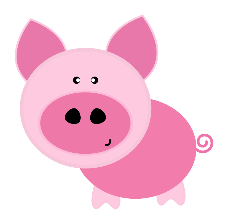 Pig In Mud Clipart.