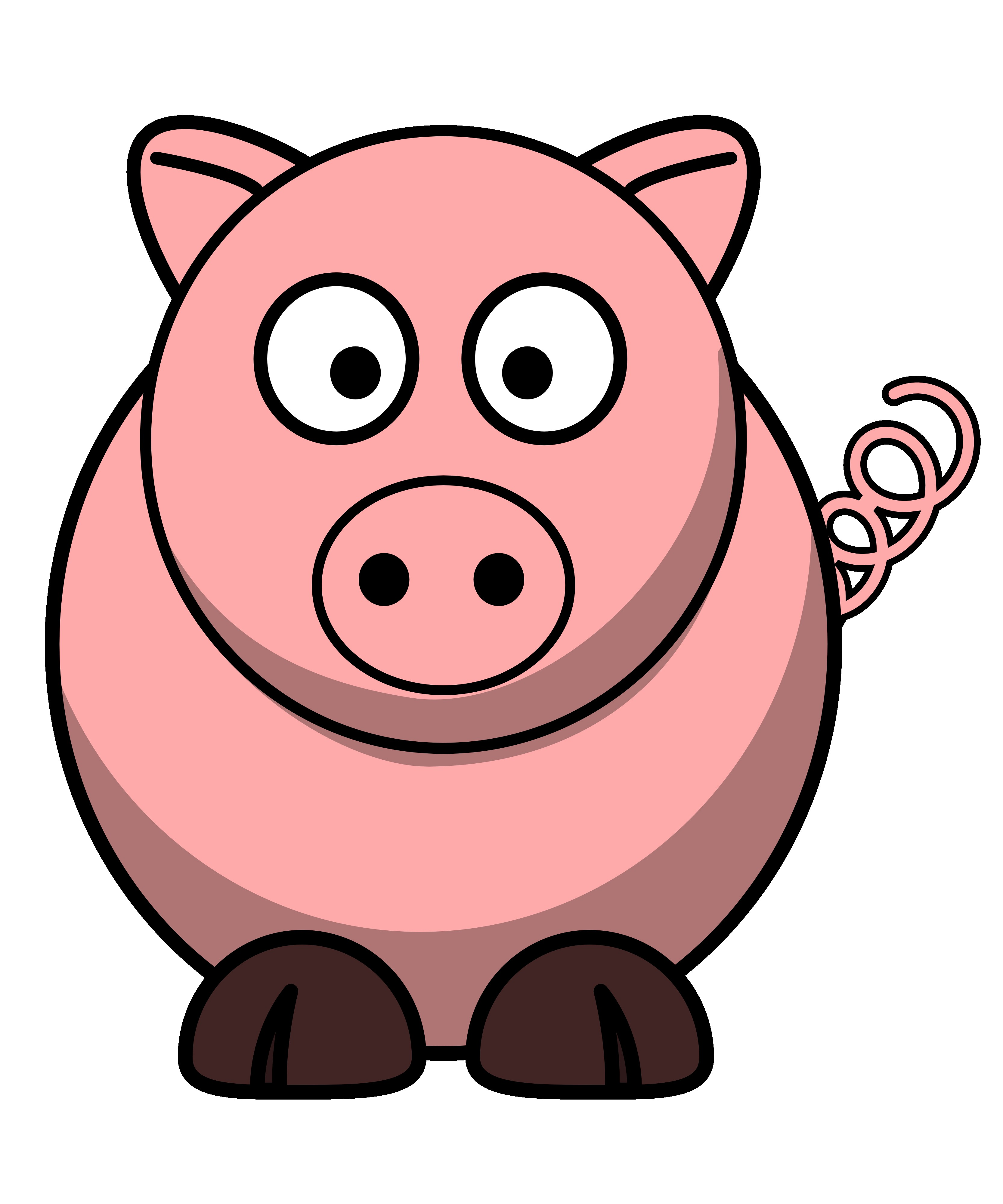 Pig Clip Art Cartoon.