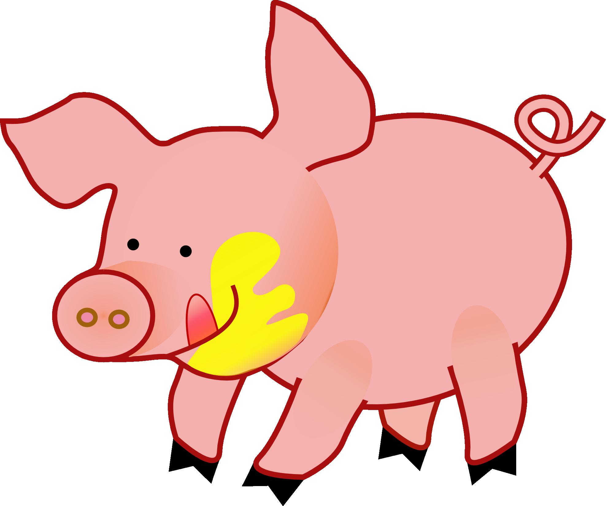 Pig clip art cartoon free clipart images.