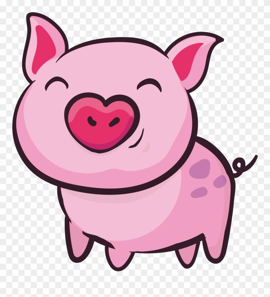 Kisspng Domestic Pig Clip Art Pink Cute Little.