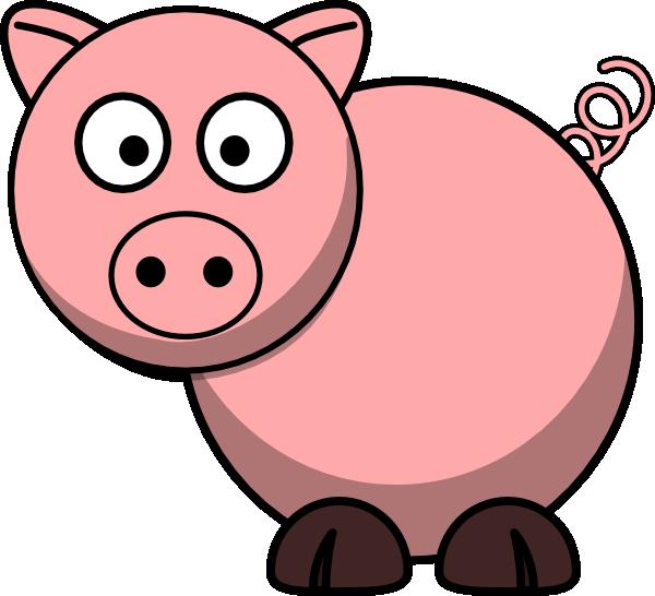 Cute Pig Face Clip Art.