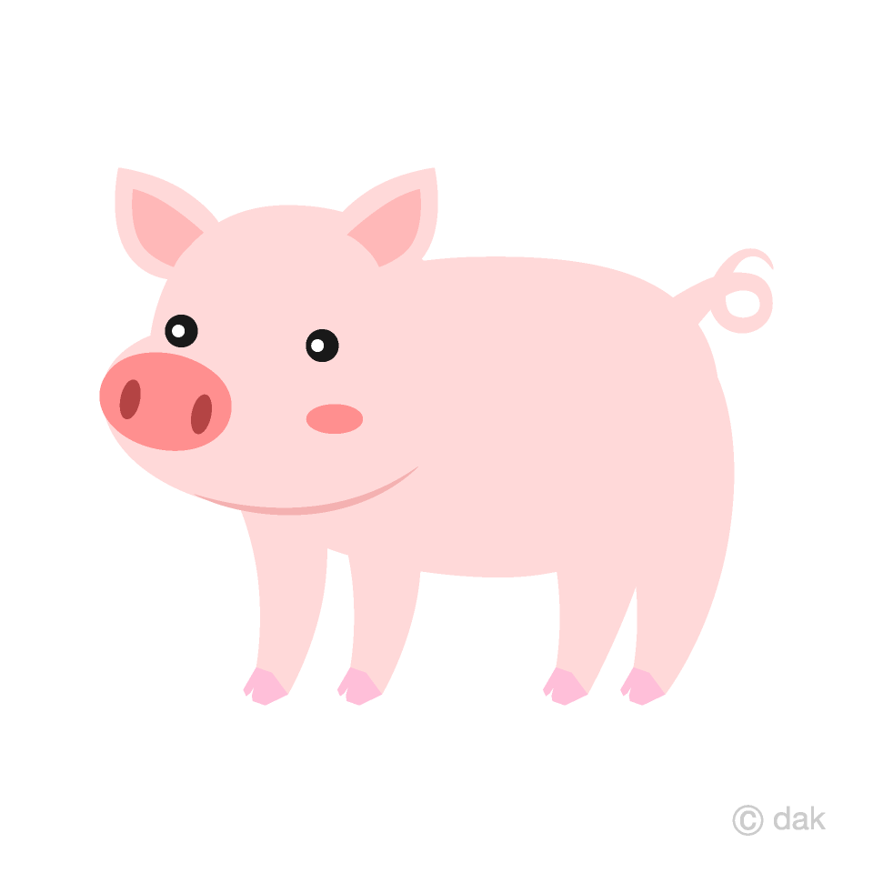 Cute Pig Clipart Free Picture|Illustoon.