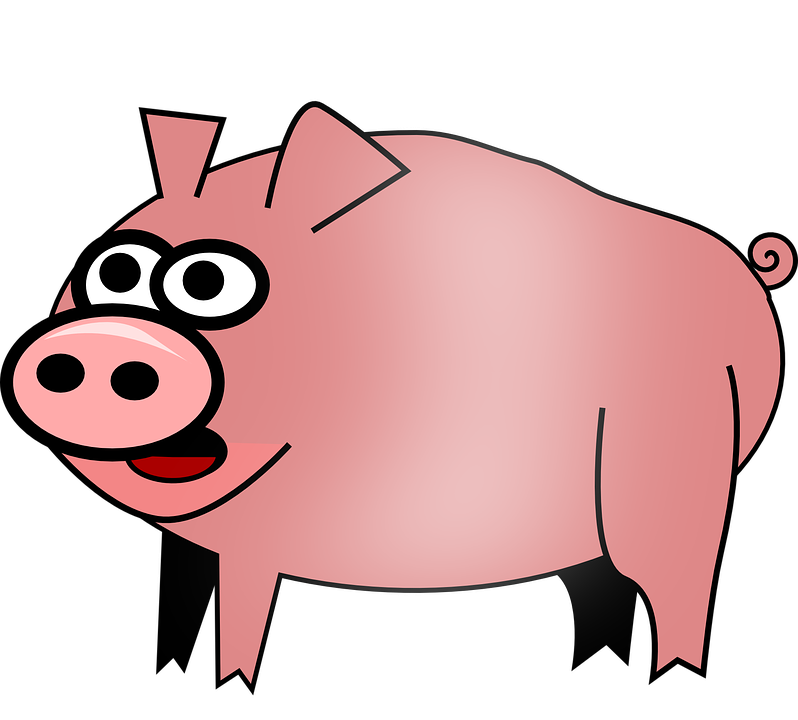 Free Vector Graphic Hog Pig Animal Barnyard Farm