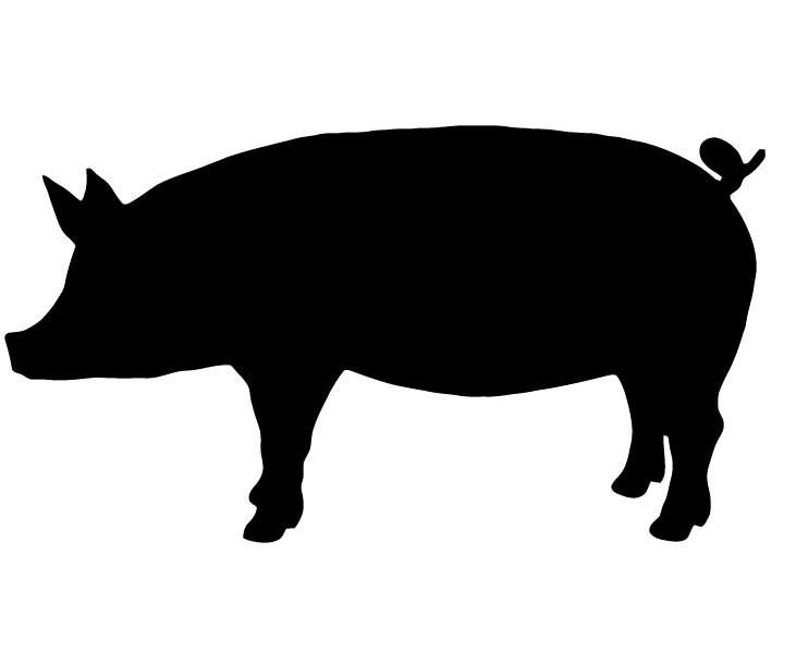 Pig Clipart Silhouette.