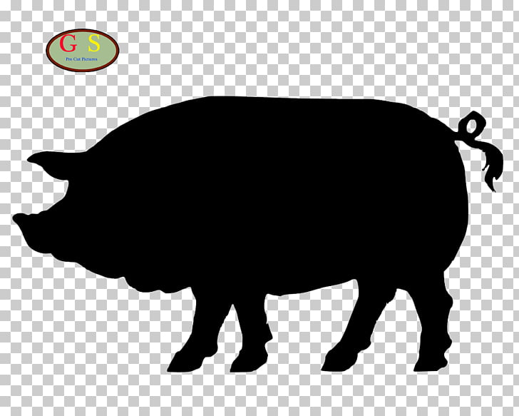 Mr. Pig\'s Smokehouse Silhouette , pig PNG clipart.