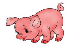 Pig animal clipart.