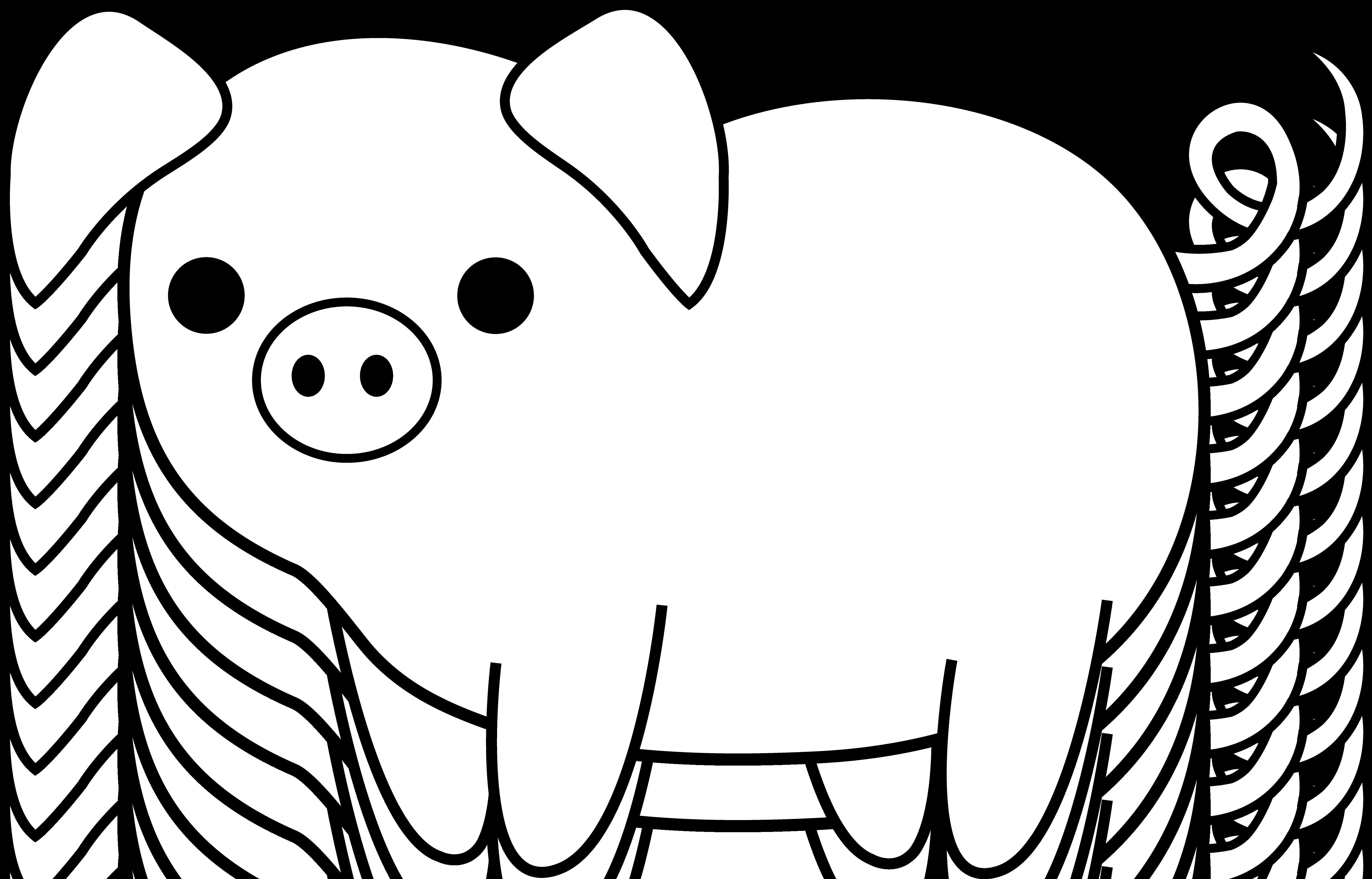 Free Pig Line Art, Download Free Clip Art, Free Clip Art on.