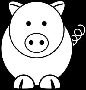 Cartoon Pig Clip Art at Clker.com.