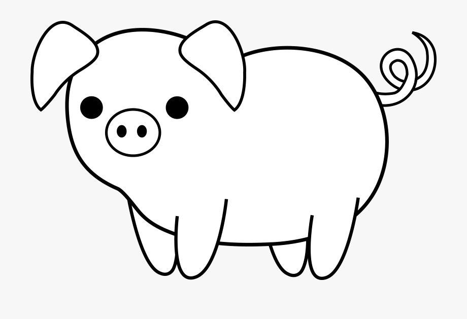 Drawing Clipart Pig.