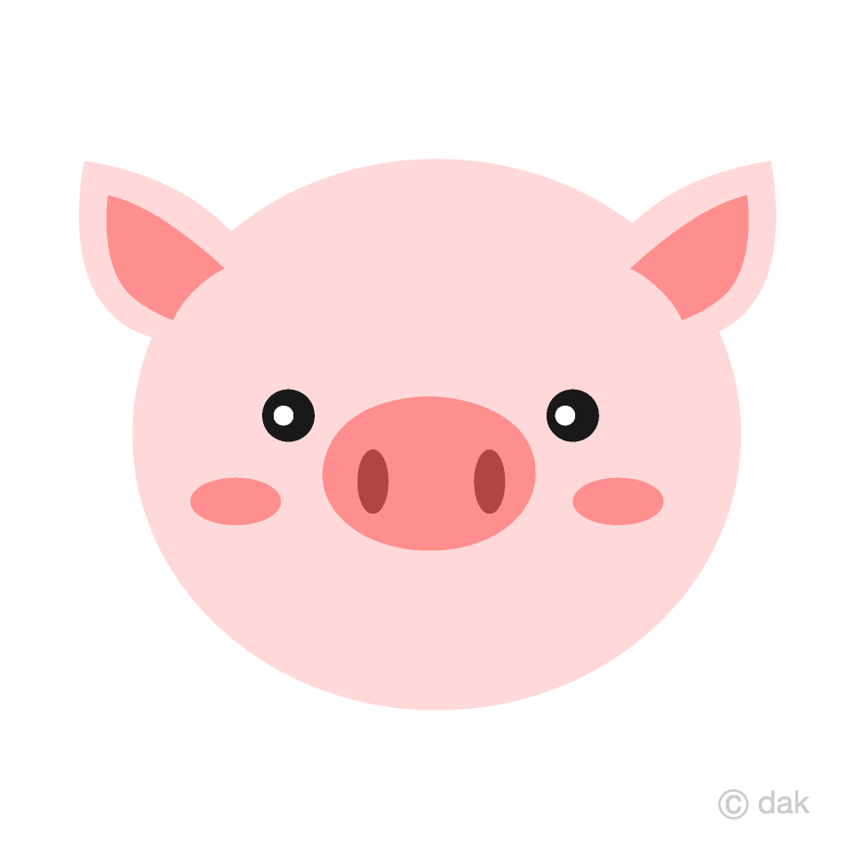 Cute Pig Face Clipart Free Picture|Illustoon.