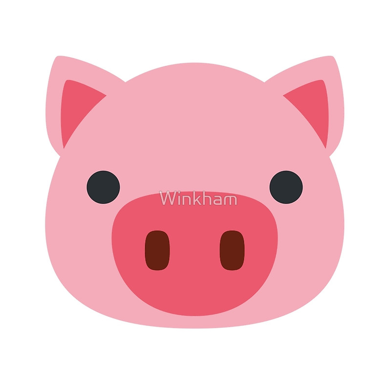 Pig face emoji drawstring bags by winkham redbubble clip art.