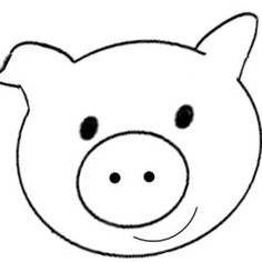 Pig face clipart black and white 4 » Clipart Station.