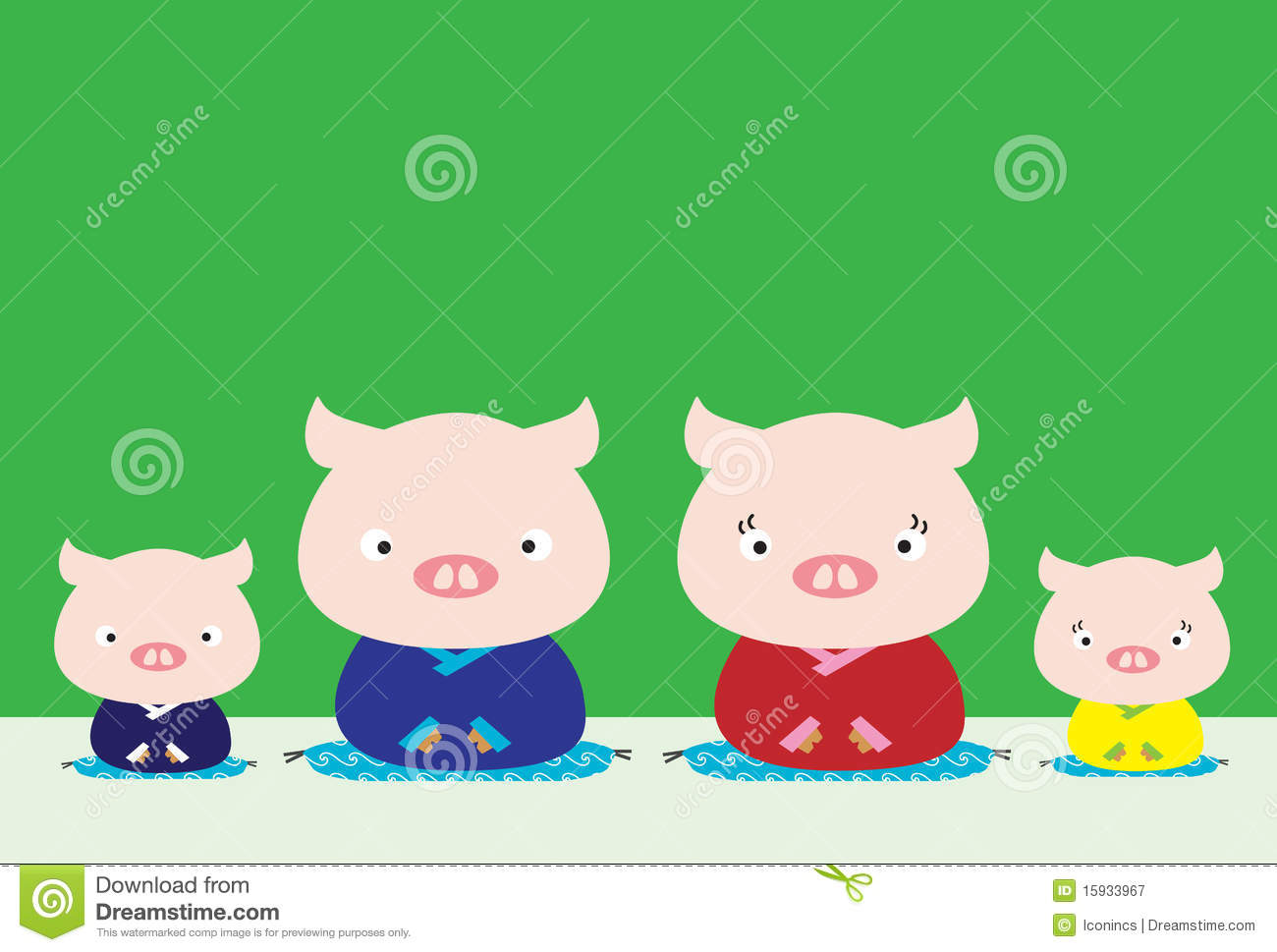 Pig Family Royalty Free Stock Photography.