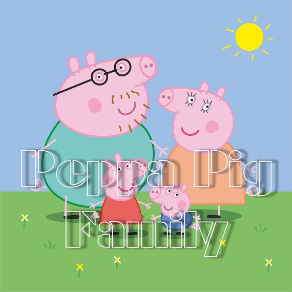 Peppa pig clipart pdf.