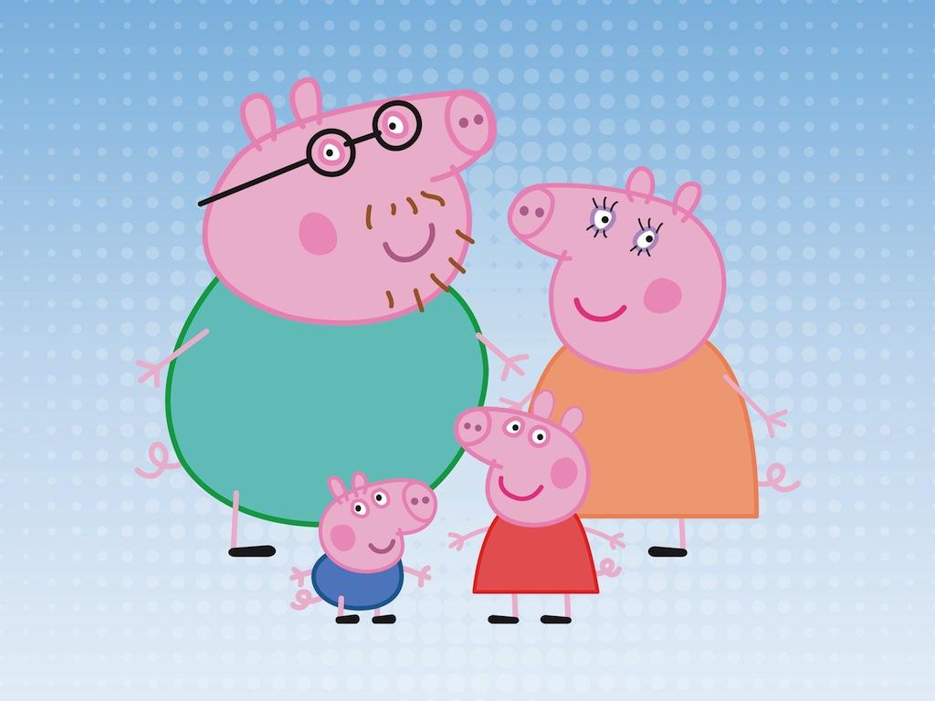 Pig Family Vector Art & Graphics.