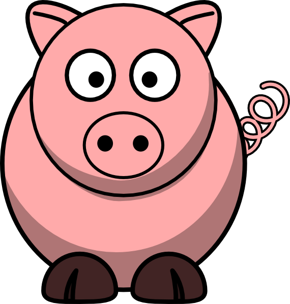 Cartoon Clipart: Free Pig Cartoon Clipart.