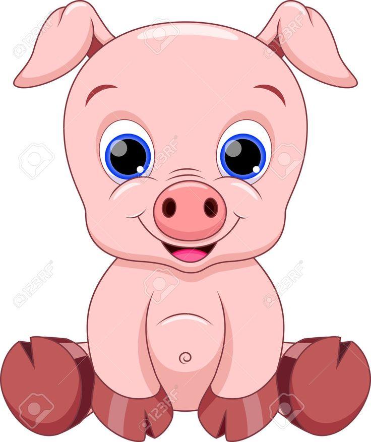 Cute Pig Clipart.
