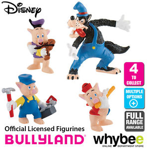 Official Bullyland Disney The 3 Little Pigs Figurines.