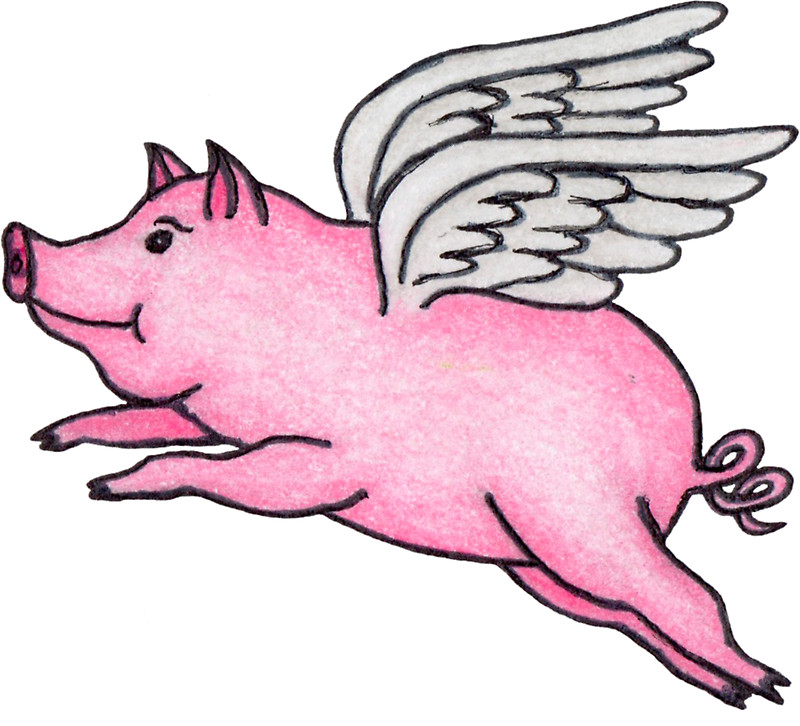 Flying Pig Clipart.