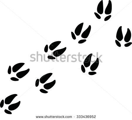 pig footprints clipart #13
