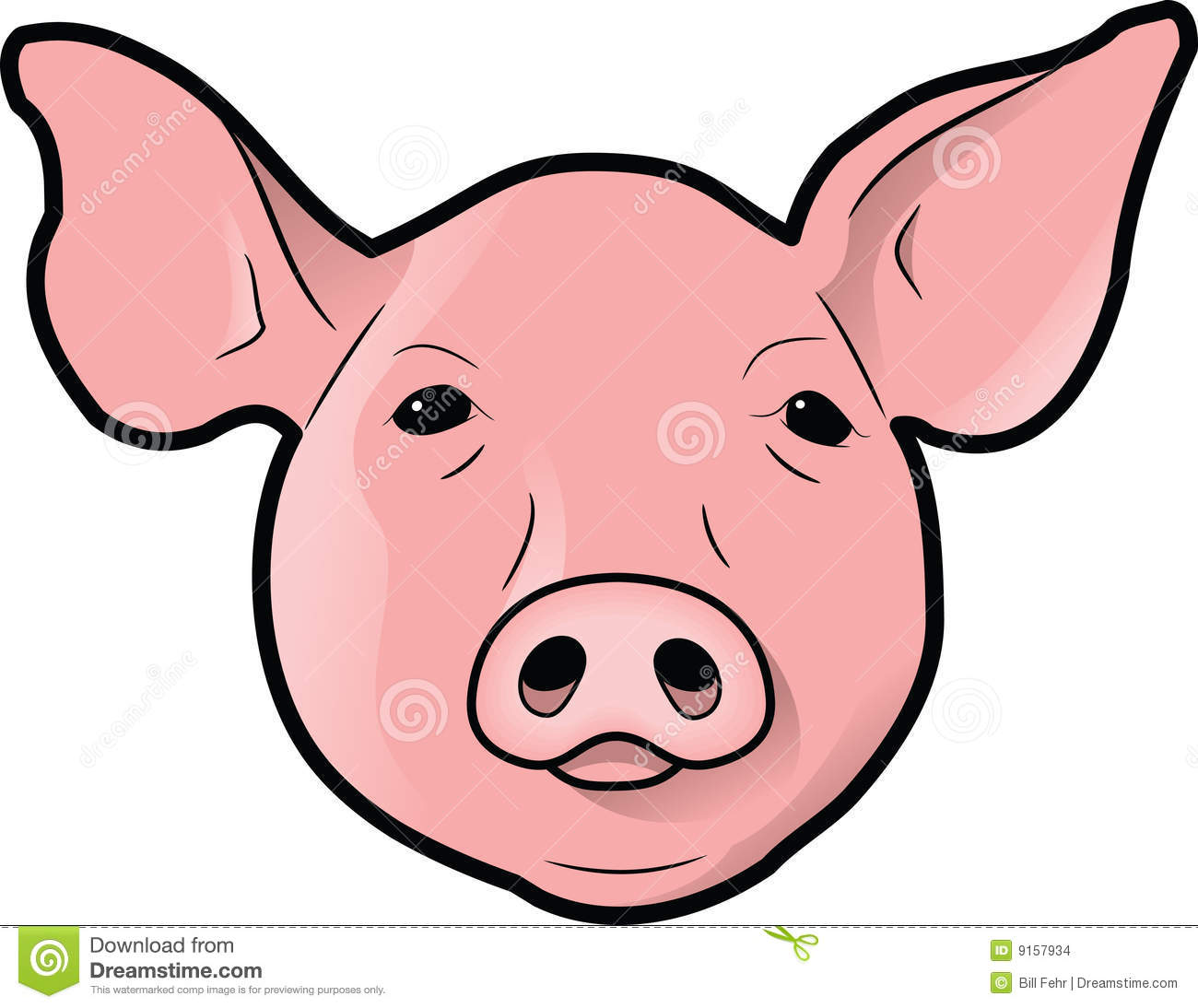 pig head clipart clipground Funny Pig Face Clip Art Cute Pig Face Clip Art
