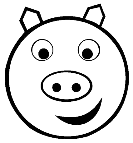 Free Pig Head Clipart, 1 page of Public Domain Clip Art.