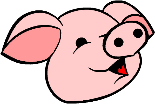 Pig Face Clipart.