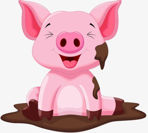 Sitting In The Mud Of The Pig PNG, Clipart, Cartoon, Cartoon.