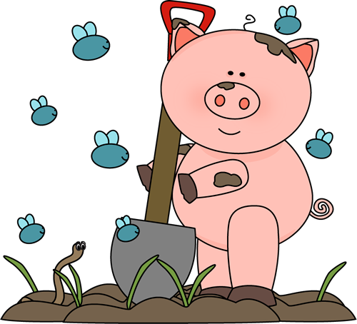 Download Free png Clipart pig in mud.