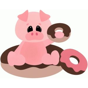 Silhouette Design Store: pig out with donuts.