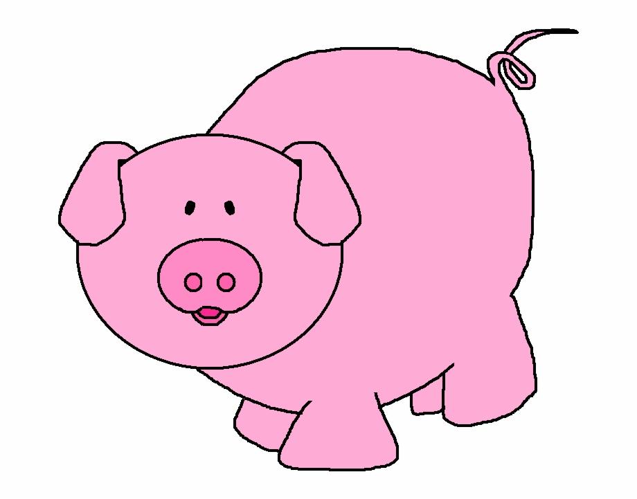 Pink Pig Clip Art.