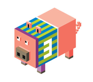 Paper Pig Race Game.